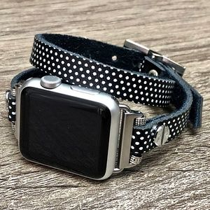 Double Wrap Polka Dots Apple iWatch Leather Band